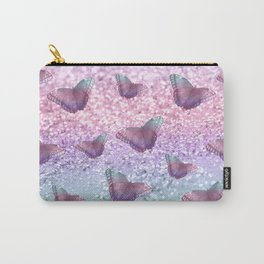 Pastel Unicorn Butterfly Glitter Dream #1 #shiny #decor #art #society6 Carry-All Pouch
