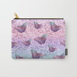 Pastel Unicorn Butterfly Glitter Dream #1 #shiny #decor #art #society6 Carry-All Pouch