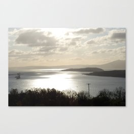 Looking to Millport and the wee Cumbrae Canvas Print