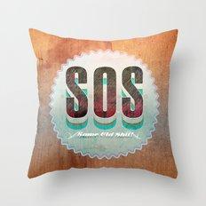 S O S Throw Pillow