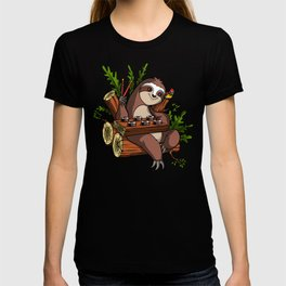 Lazy Sloth Sushi Lover Animal T-shirt