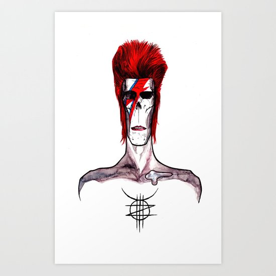 Zed Mercury, 'Aladdin Sane' Bowie tribute Art Print