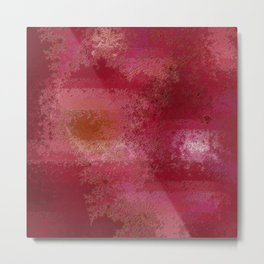 Pink and Red Moon Metal Print