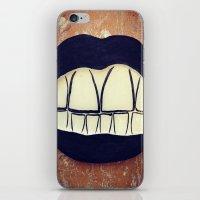 teeth iPhone & iPod Skins featuring  Teeth by Hayleydonovan