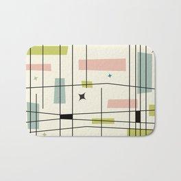 Mid Century Art Bauhaus Style Pastel Bath Mat