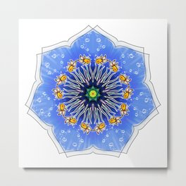 Mandala fishes Metal Print