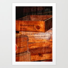 Wine crates Art Print