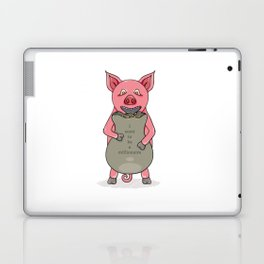 pig and bag with gold coins Laptop & iPad Skin