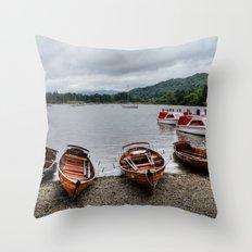Ambleside Boats Throw Pillow