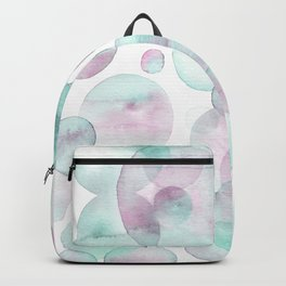 Bubbles light colors palette Backpack