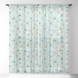 Just boys Sheer Curtain