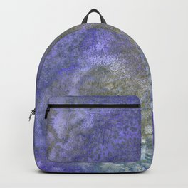 Gold And Blue Abstract Backpack