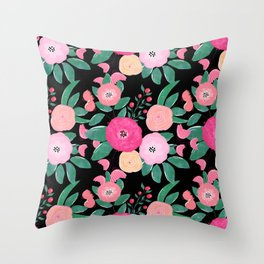 Stylish abstract creative floral paint Throw Pillow