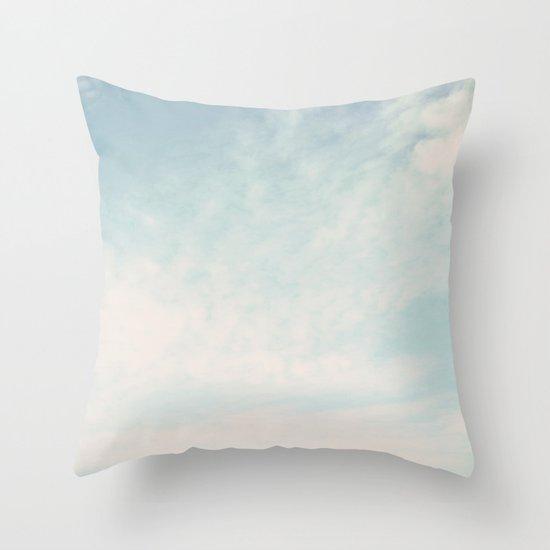 Beach Hut Sky  Throw Pillow
