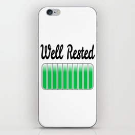 Well Rested iPhone Skin