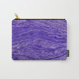 Violet watercolor marble Carry-All Pouch