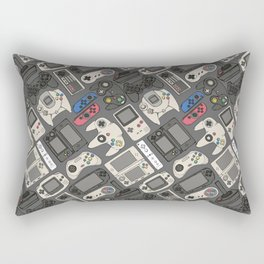 Video Game Controllers in True Colors Rectangular Pillow
