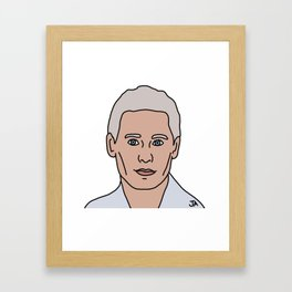 Jared Leto During His White Hair Phase Framed Art Print