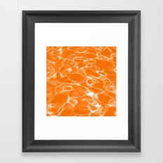 Orange Water Framed Art Print