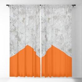 Geometric Concrete Arrow Design - Orange #118 Blackout Curtain