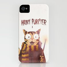 HAIRY PURR'TER iPhone (4, 4s) Slim Case