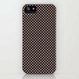 Black and Maple Sugar Polka Dots iPhone Case