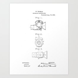 Pneumatic Annunciator Vintage Patent Hand Drawing Art Print