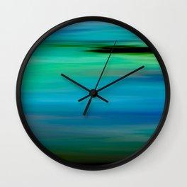Seascape - blurography Wall Clock