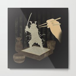 Soba Samurai Metal Print