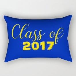 Class of 2017 - Blue Yellow Rectangular Pillow