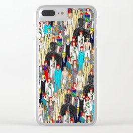 Bowie-A-Thon Clear iPhone Case
