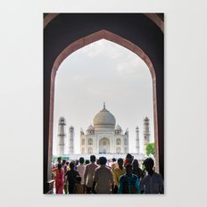 Entering the Taj Mahal Canvas Print