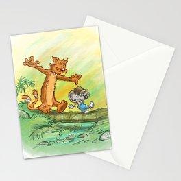 Pellejo & Rakumin - Across the river Stationery Cards
