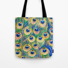 Peacock Freathers Tote Bag