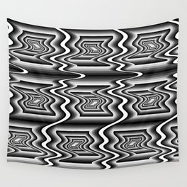 Grey Optical Pattern Wall Tapestry