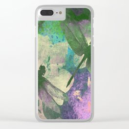 Dragonflies ZZ Clear iPhone Case