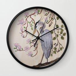 Heron bleu Wall Clock