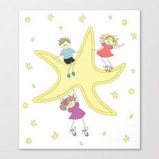 Kids around the star Canvas Print