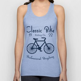 Classic Bike Riding Professional Bicycling Club Cyclist Unisex Tank Top