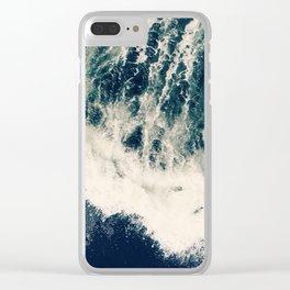 The Ocean Roars Clear iPhone Case