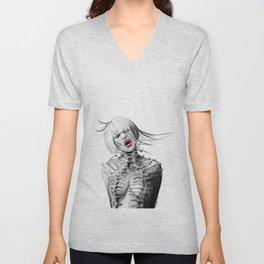 Alternative Fashion Girl Unisex V-Neck