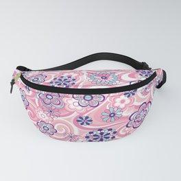 Swirls & Flowers Pink Fanny Pack