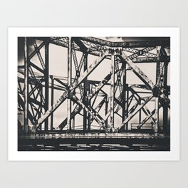 Faded Bridges Art Print