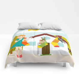 Cats in draining Comforters