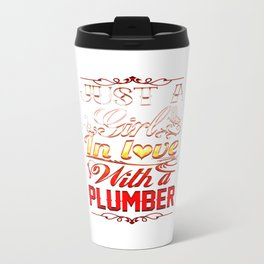 In love with Plumber Travel Mug