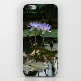 Purple Lilypad Flowers are Blooming in Spring iPhone Skin