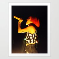 hayley williams Art Prints featuring Hayley Williams by Alex King