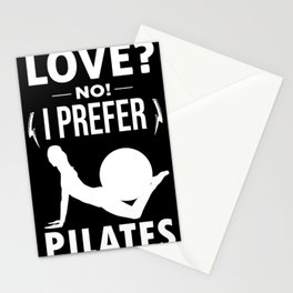 Pilates Love Morning Routine Workout Training Stationery Cards