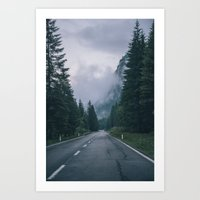 The road down the mountain || Art Print
