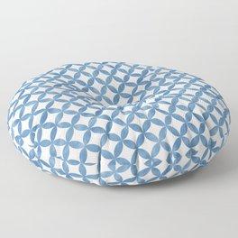 Sky Blue Watercolor Circle Pattern Simple Minimalistic Scandinavian Tile Azulejos Floor Pillow